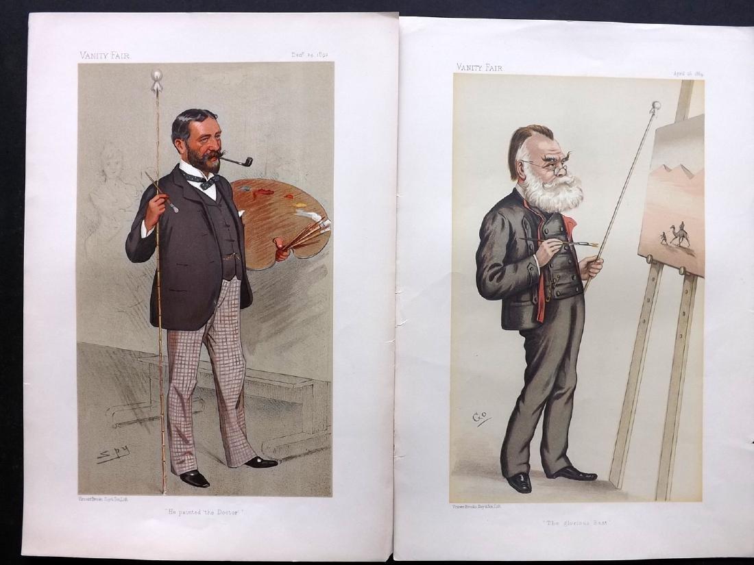 Vanity Fair Prints 1884-92 Pair of Artists