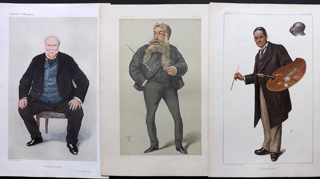 Vanity Fair Prints 1880-1909 Group of 3 Artists
