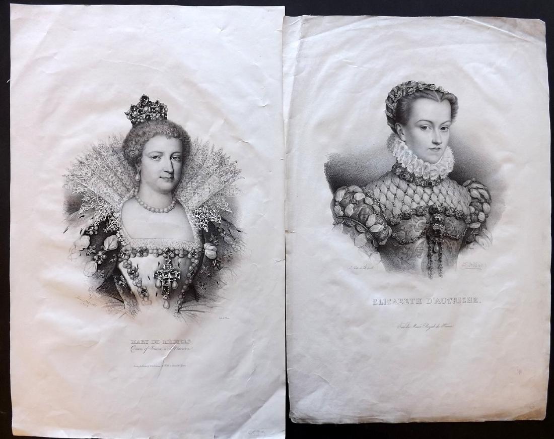 Delpech & Villian C1835 Pair of Folio Portraits