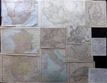 Maps 1819-1911 Mixed Lot of 12 Maps