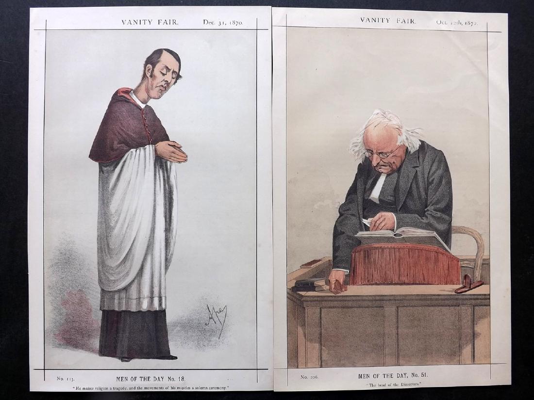 Vanity Fair Print 1870-72 Pair of Clergy Prints