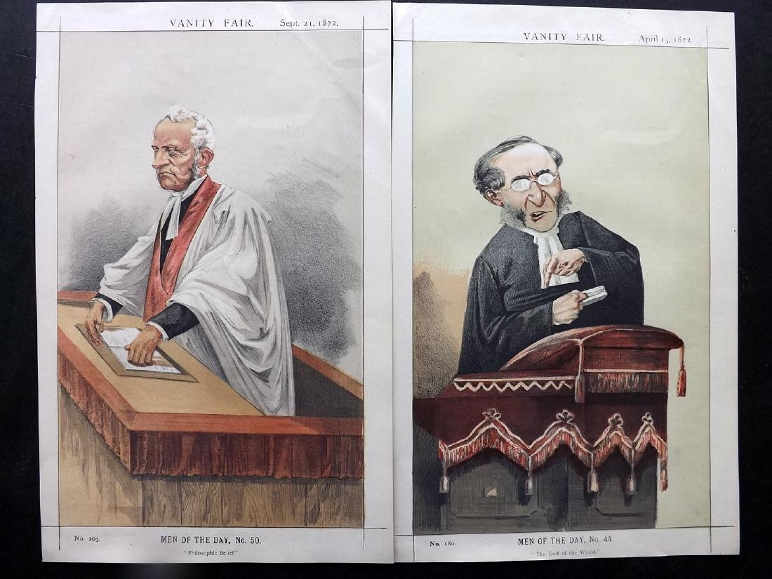 Vanity Fair Print 1872 Pair of Clergy Prints