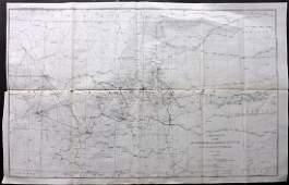 U S Coast Survey 1896 Large Map Colorado Utah Kansas