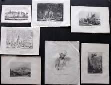 India C17801865 Lot of 7 Antique Prints