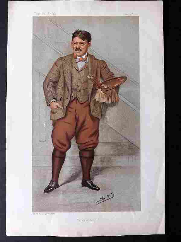 Vanity Fair Print 1898 Edwin Abbey, American Artist