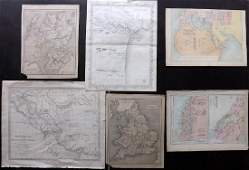 Maps 19th Cent Mixed Lot of 6