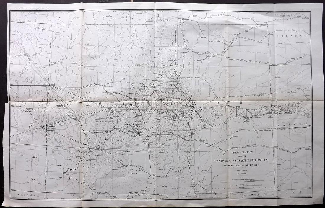 U S Coast Survey 1896 Large Map. Colorado Utah Kansas - May 23, 2019 Kansas Map Of Utah And Colorado on printable map of colorado, interstate map of colorado, cities in dolores county colorado, san juan river colorado, map of western united states, map of four corners colorado, utah road map colorado, map of wyoming, simple road map of colorado, map of arizona, map of southwestern colorado, wyoming road map colorado, map of nevada, mountain road map colorado, map showing counties arizona, map of colorado new mexico, map of airports in colorado, confluence of green and colorado, city of hope colorado, map of colorado online,