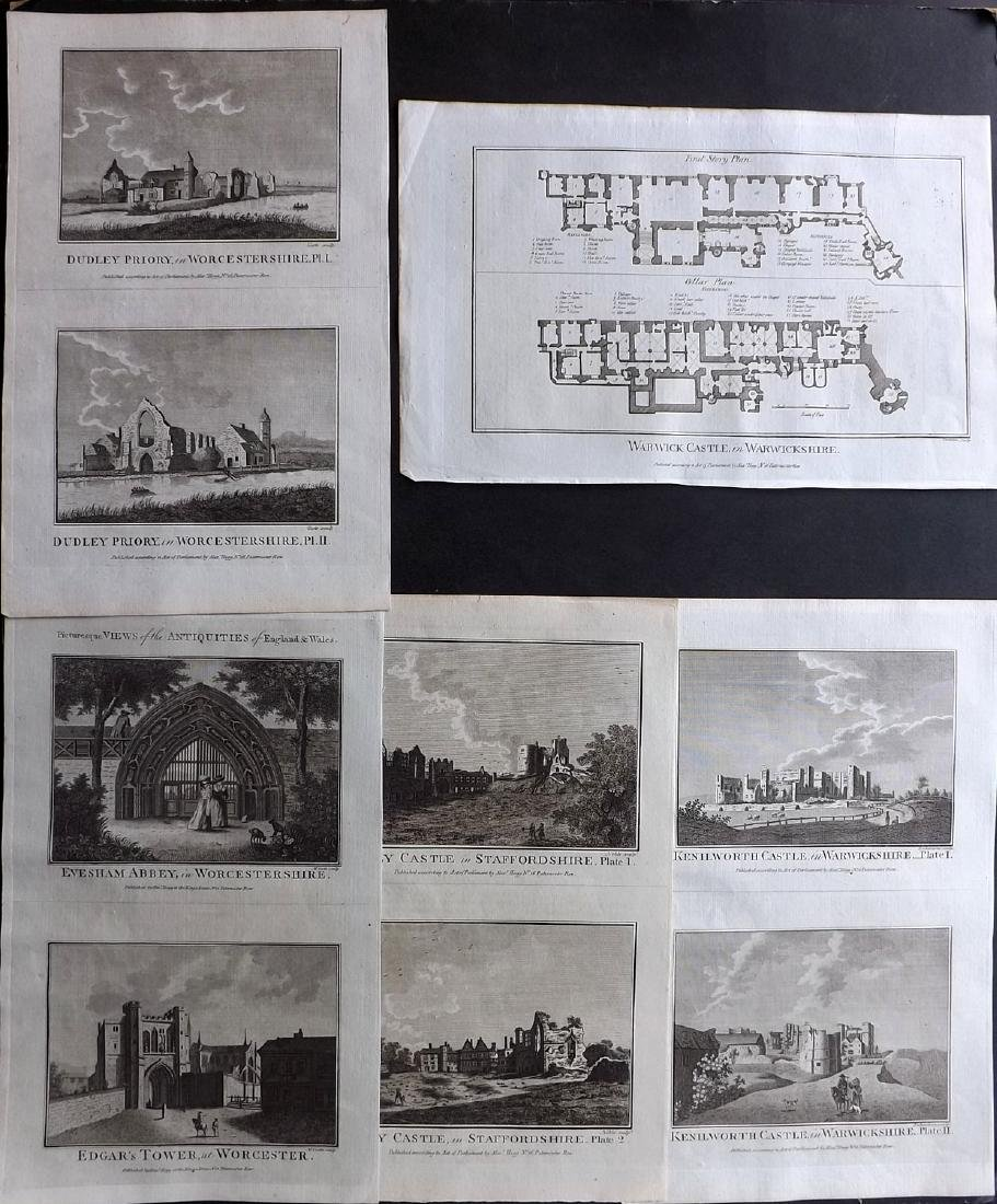 Boswell, Henry 1786 Lot of 5 British Copper Plates
