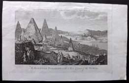 Egypt C1790 Antique Print Pyramids Sphinx Nile