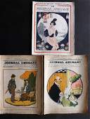 Le Journal Amusant 191222  3 Issues 6 Color Prints