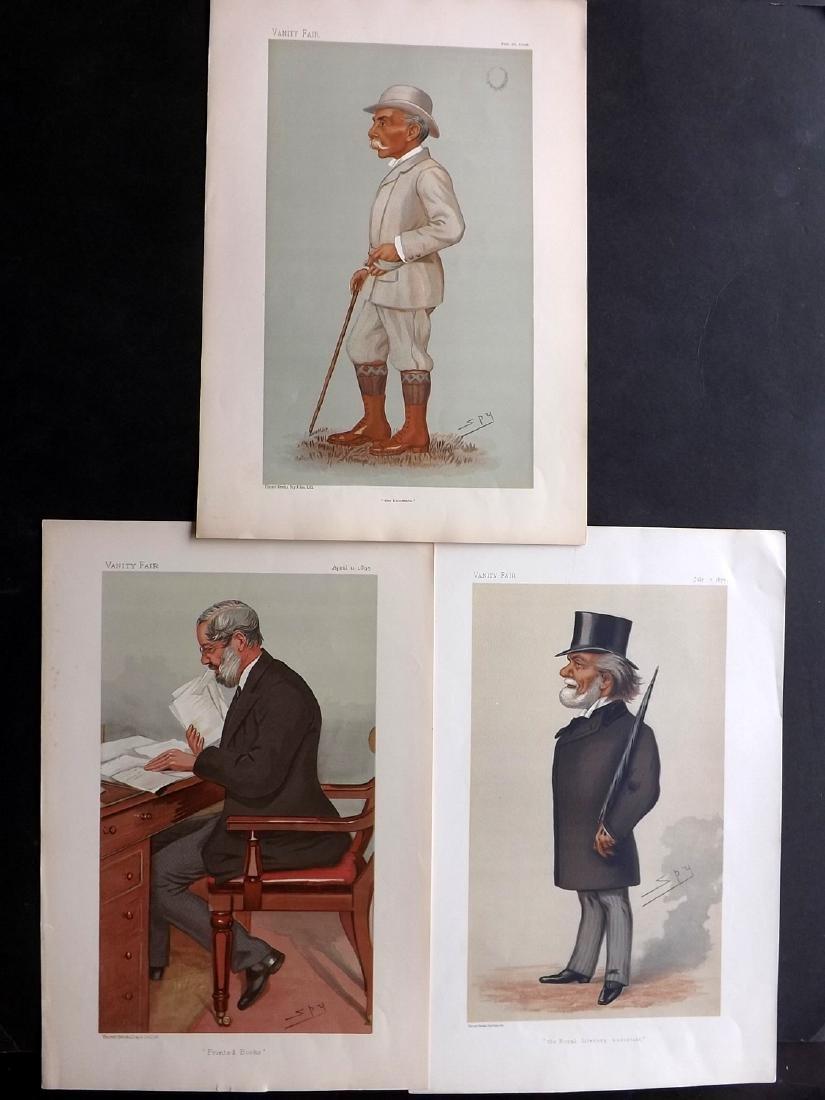 Vanity Fair Prints 1877-96 Lot of 3 Prints. Literary