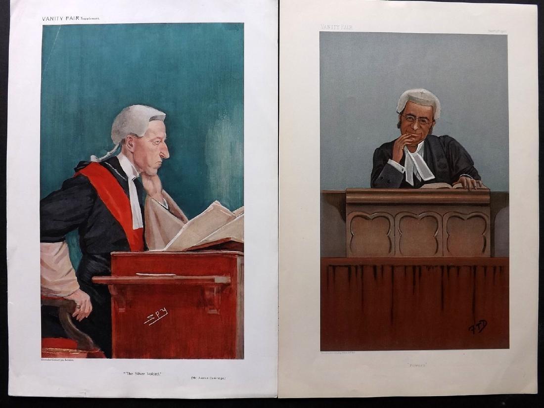 Vanity Fair Prints 1900-1909 Pair of Judges. Law Legal