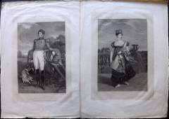 Meyer after Chalon 1816 Pair of Large Portraits