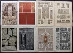 Dolmetsch Heinrich 1912 Lot of 8 Design Prints