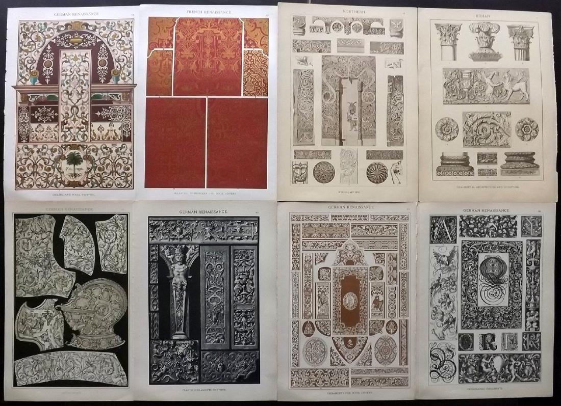 Dolmetsch, Heinrich 1912 Lot of 8 Design Prints