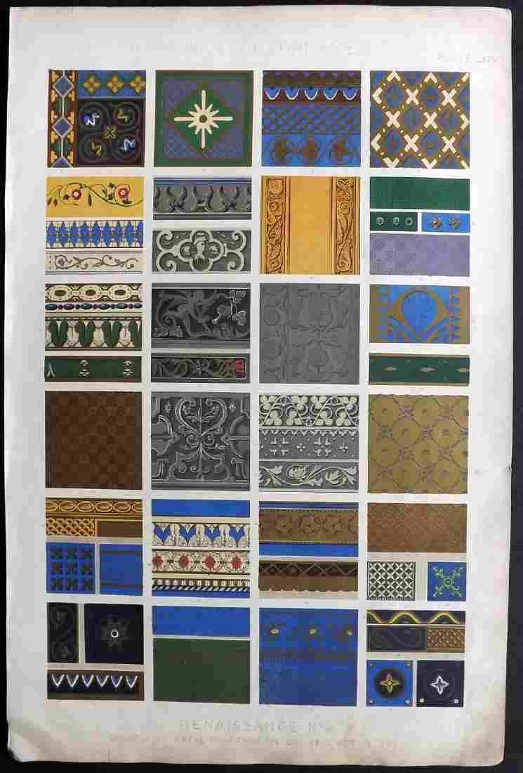 Jones, Owen 1856 LG Design Print. Renaissance No. 4