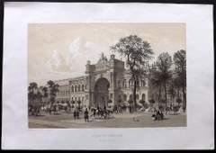 Paris dans Splendeur 1863 Print Palais de lIndustrie