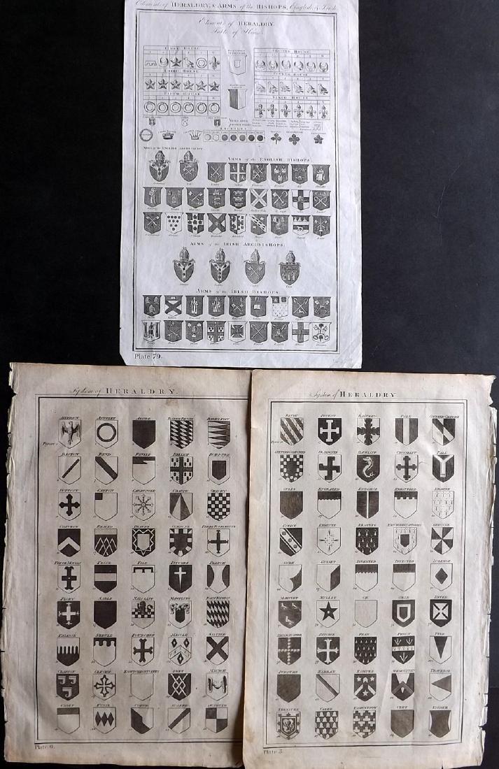 Howard, George 1796 Group of 3 Prints. Heraldry