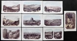 Thomson, William 1863 Lot of 6 Holy Land Prints