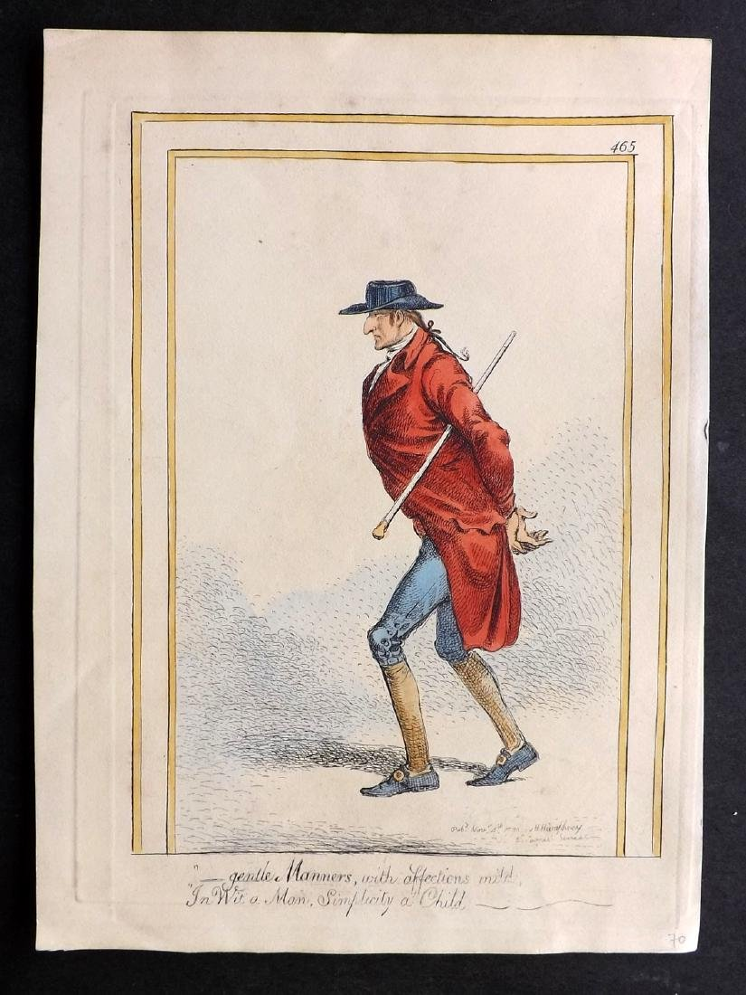Gillray, James 1851 HC Caricature Print. Gentle Manners