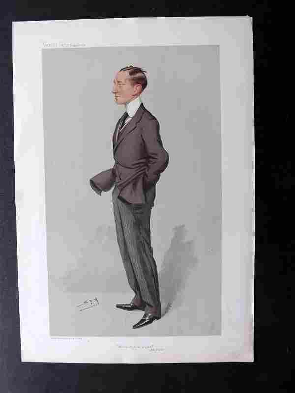 Vanity Fair Print 1905 Guglielmo Marconi Radio Inventor