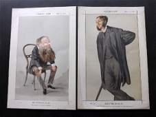 Vanity Fair Prints 187173 Literary X3 John Stuart Mill