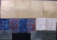Marble End Papers Bookbinding 19th Cent Lot of 13
