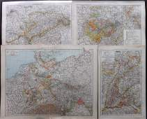 The Times 1895 Lot of 4 Maps Germany