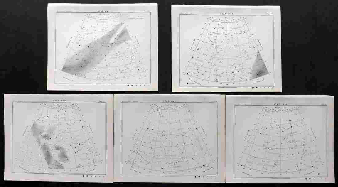Ball, Robert 1892 Lot 5 Star Maps Astronomy Celestial