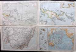 The Times 1895 Lot of 4 Maps Australia  Pacific