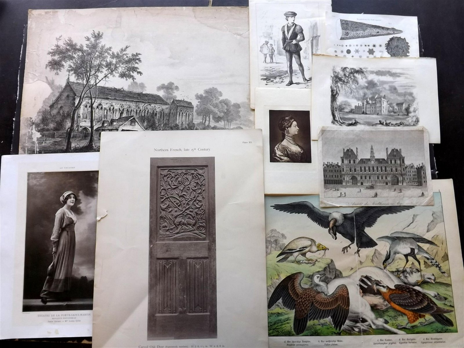 Mixed Prints & Maps C1780-1920 Lot of 30 Items