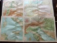 Bartholomew John 1922 Lot of 8 Large Maps of Europe