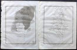 Wells Edward 1817 Pair of Maps of Israel Holy Land