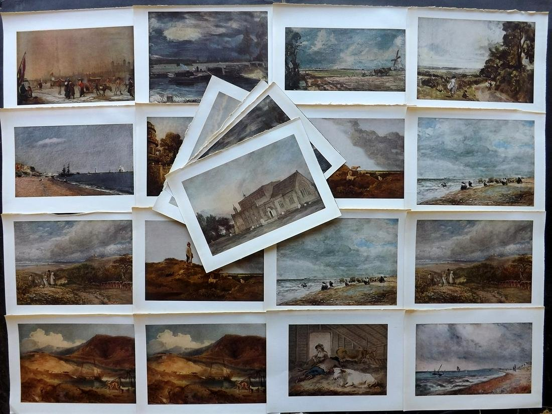 Soldes, W. 1940 Lot of 20 Prints. British Art