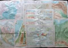Bartholomew John 1922 Mixed Lot of 9 Large Maps