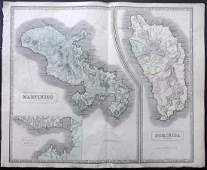 Philip George 1856 LG HCol Map Martinico Dominica