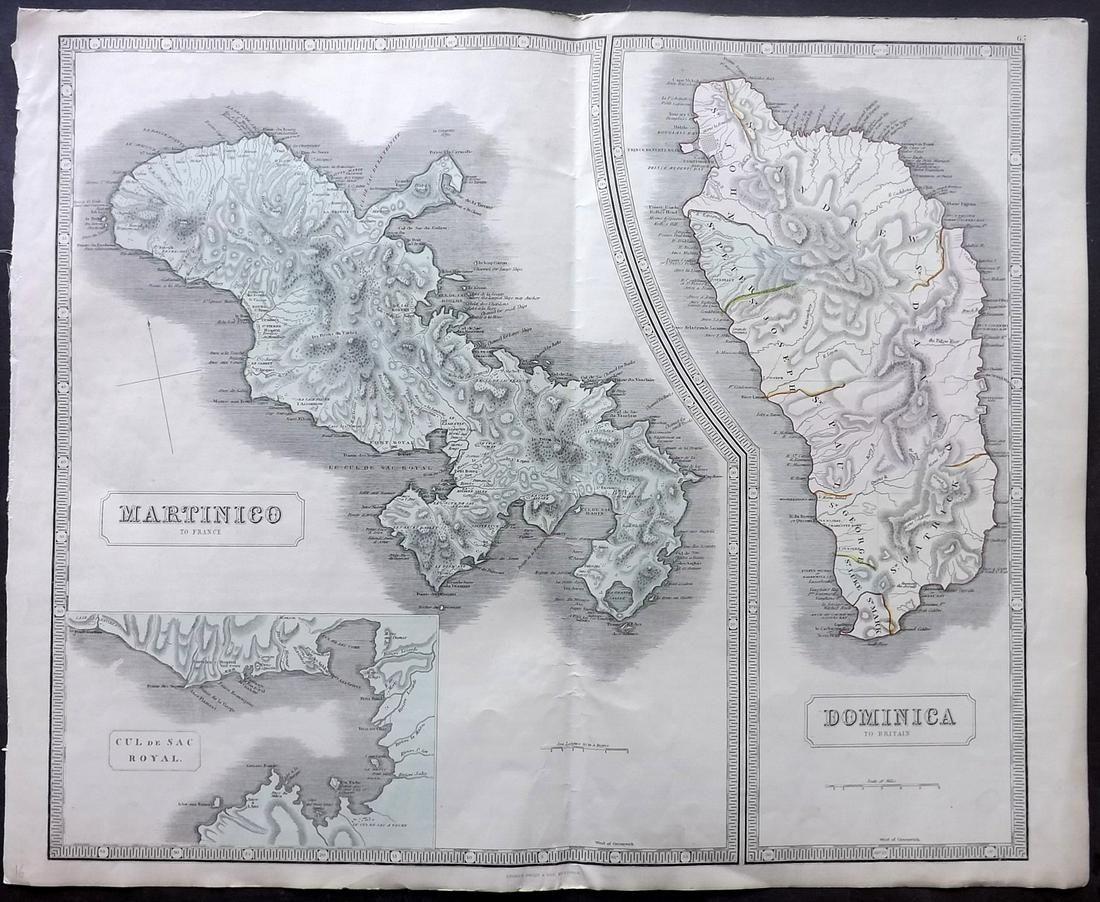 Philip, George 1856 LG HCol Map. Martinico, Dominica