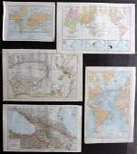 The Times 1895 Mixed Lot of 5 Maps
