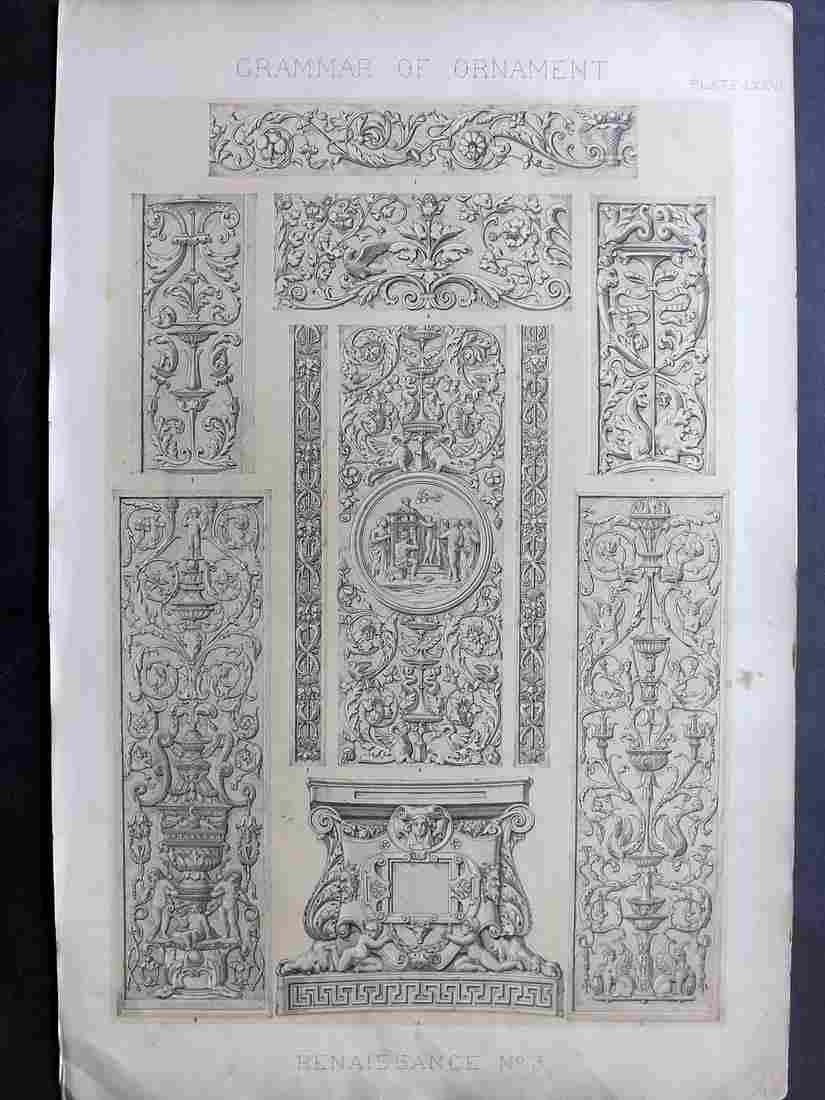 Jones, Owen 1856 LG Design Print. Renaissance No. 3