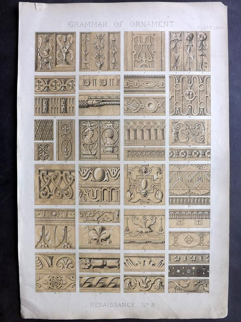 Jones, Owen 1856 LG Design Print. Renaissance No. 8
