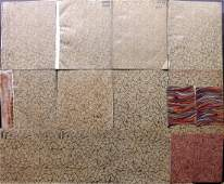 Marble End Papers Bookbinding 19th Cent Lot of 15