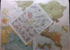 Gross Alexander 1920 Mixed Lot of 5 Large Maps