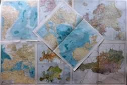 Gross Alexander 1920 Mixed Lot of 7 Large Maps