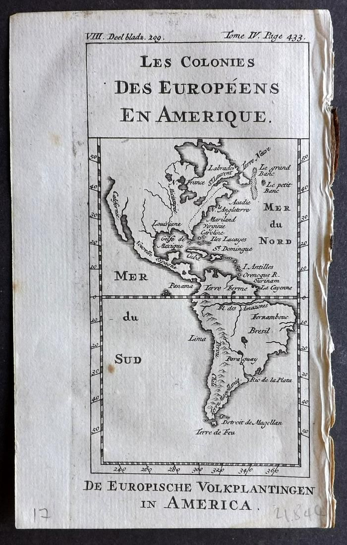 Pluche, Noel 1748 Map of America Continent