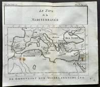 Pluche Noel 1748 Map of The Mediterranean