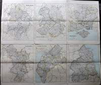 Philip George C1895 Lot of 6 British County Maps