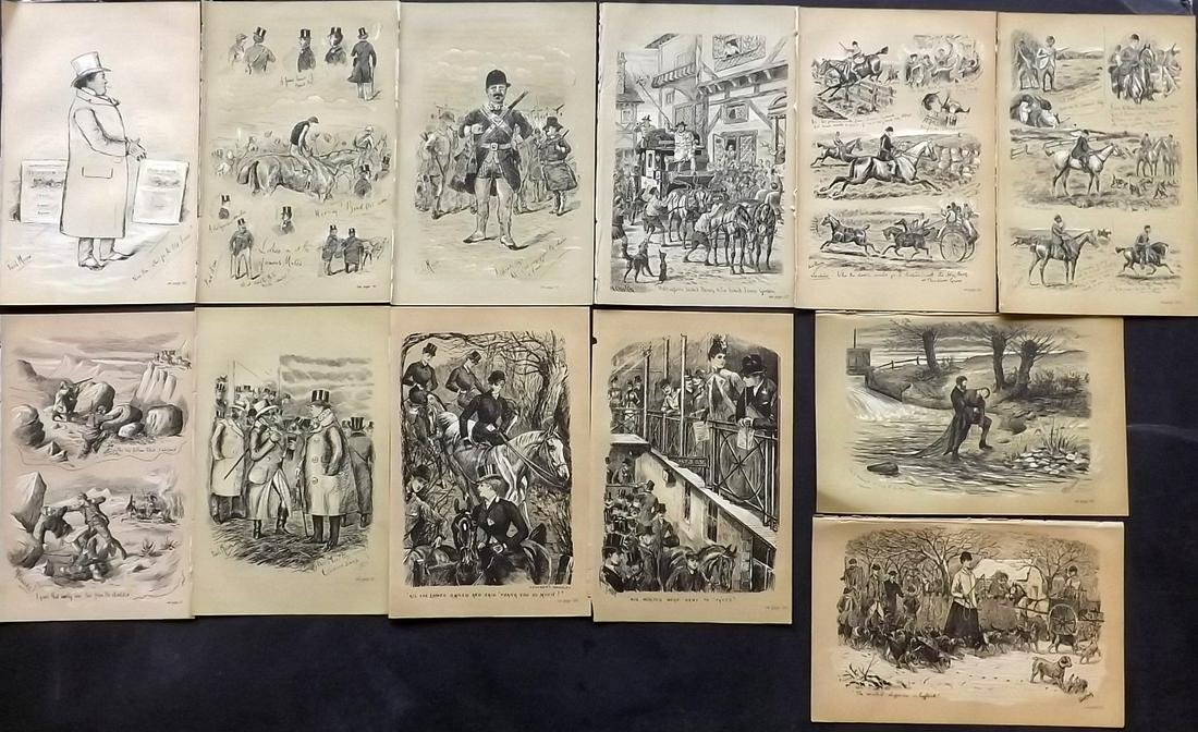Fores C1890 Lot of 12 Sporting Prints