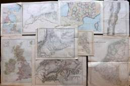 Maps 19th Cent Mixed Lot of 9