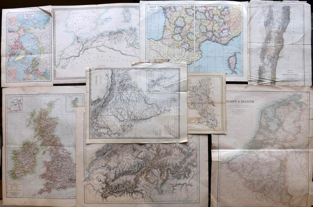 Maps 19th Cent. Mixed Lot of 9