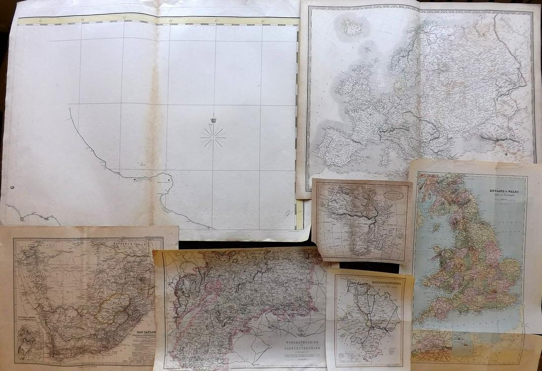 Maps 19th Century. Mixed Lot of 7